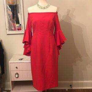 NWT Milly off shoulder midi dress sz10